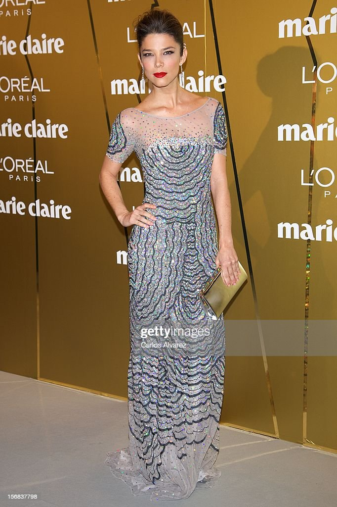 Actress Juana Acosta attends Marie Claire Prix de la Moda Awards 2012 at the French Embassy on November 22, 2012 in Madrid, Spain.