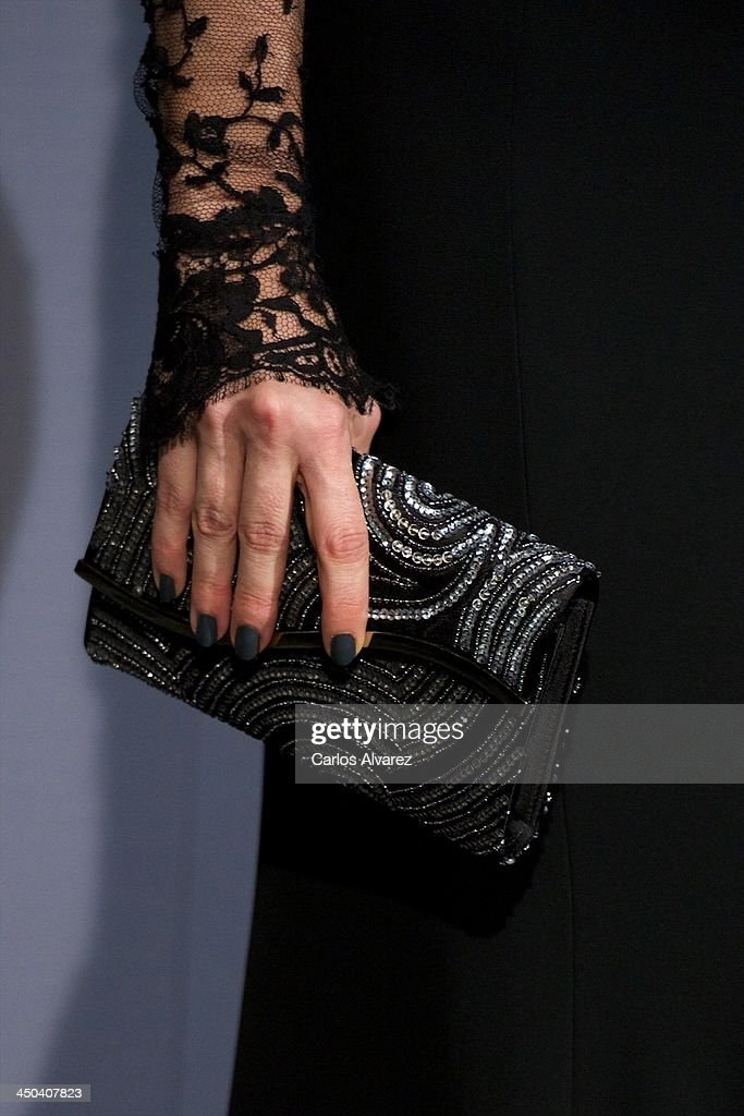 Actress Juana Acosta (bag detail) attends the GQ Men Of The Year Award 2013 at the Palace Hotel on November 18, 2013 in Madrid, Spain.