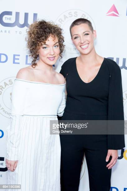 Actress Jude Demorest and Kara Allen Soldati attend the 14th Annual Brass Ring Awards Dinner at The Beverly Hilton Hotel on June 8 2017 in Beverly...