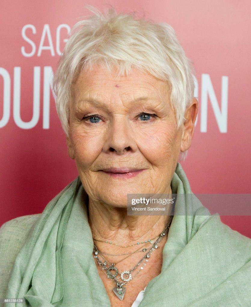 Actress Judi Dench attends SAG-AFTRA Foundation Conversations screening of 'Victoria & Abdul' at SAG-AFTRA Foundation Screening Room on November 28, 2017 in Los Angeles, California.