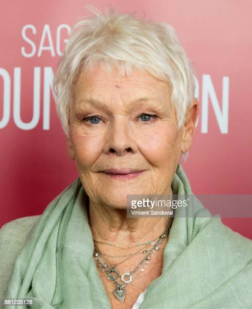 Actress Judi Dench attends SAGAFTRA Foundation Conversations screening of 'Victoria Abdul' at SAGAFTRA Foundation Screening Room on November 28 2017...