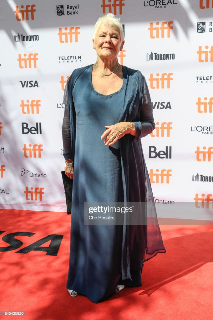 Actress Judi Dench attends the Victoria and Abdul Premiere at Princess of Wales Theatre on September 10, 2017 in Toronto, Canada.
