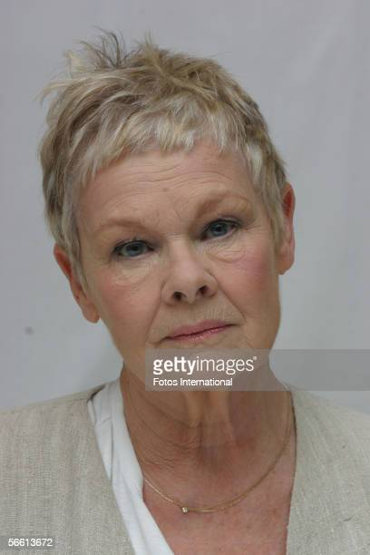 Actress Judi Dench talks at the Four Season's Hotel on December 5 2005 in Beverly Hills California