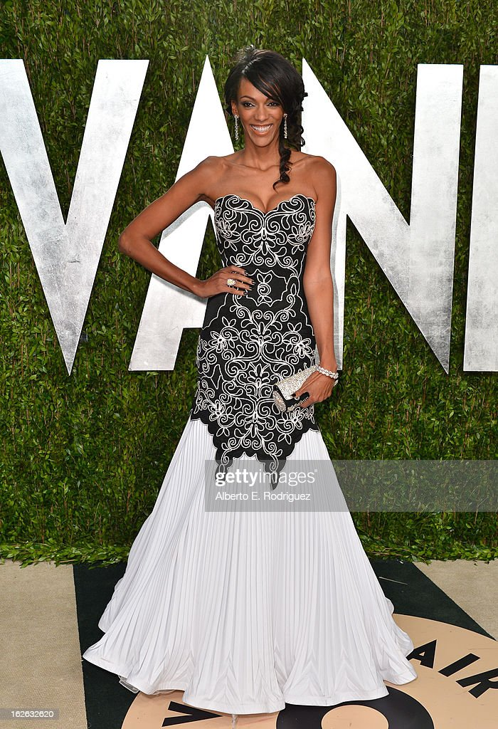 Actress Judi Shekoni arrives at the 2013 Vanity Fair Oscar Party hosted by Graydon Carter at Sunset Tower on February 24, 2013 in West Hollywood, California.