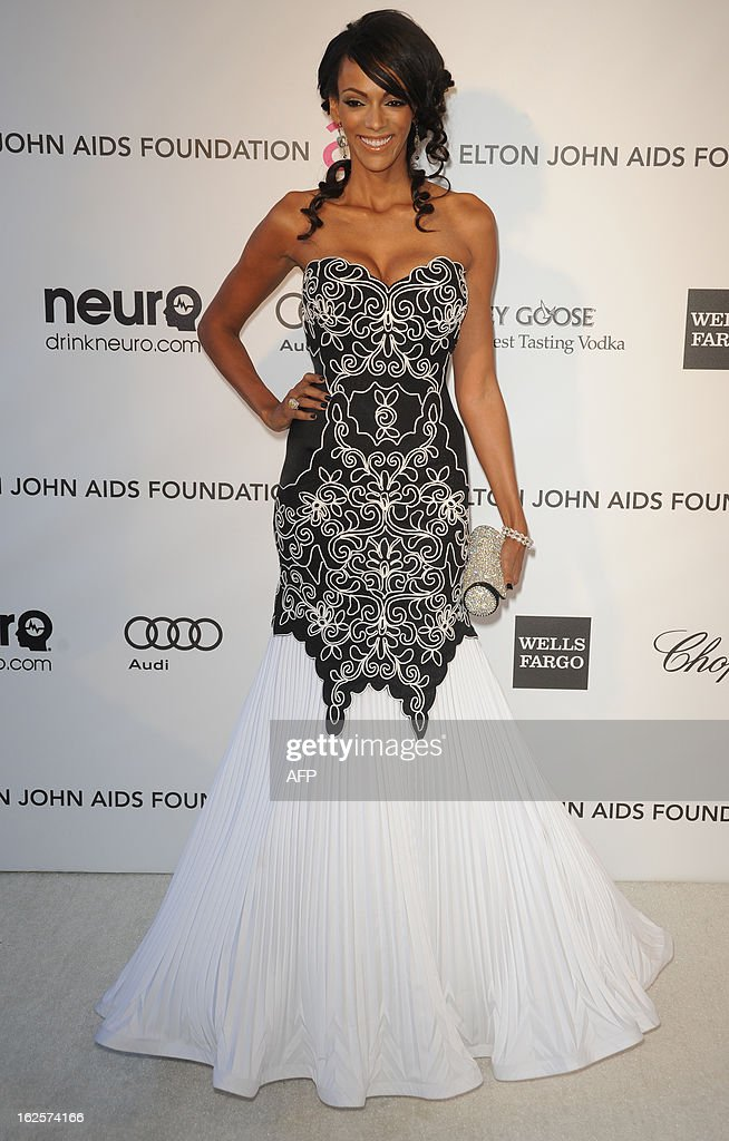 Actress Judi Shekoni arrives for the 21st Annual Elton John AIDS Foundation's Oscar Viewing Party February 24, 2013 in Hollywood, California. AFP PHOTO/Mehdi TAAMALLAH