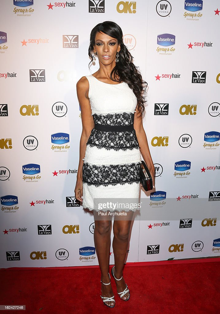 Actress Judi Shekoni attends OK! Magazine's Pre-Oscar party at The Emerson Theatre on February 22, 2013 in Hollywood, California.