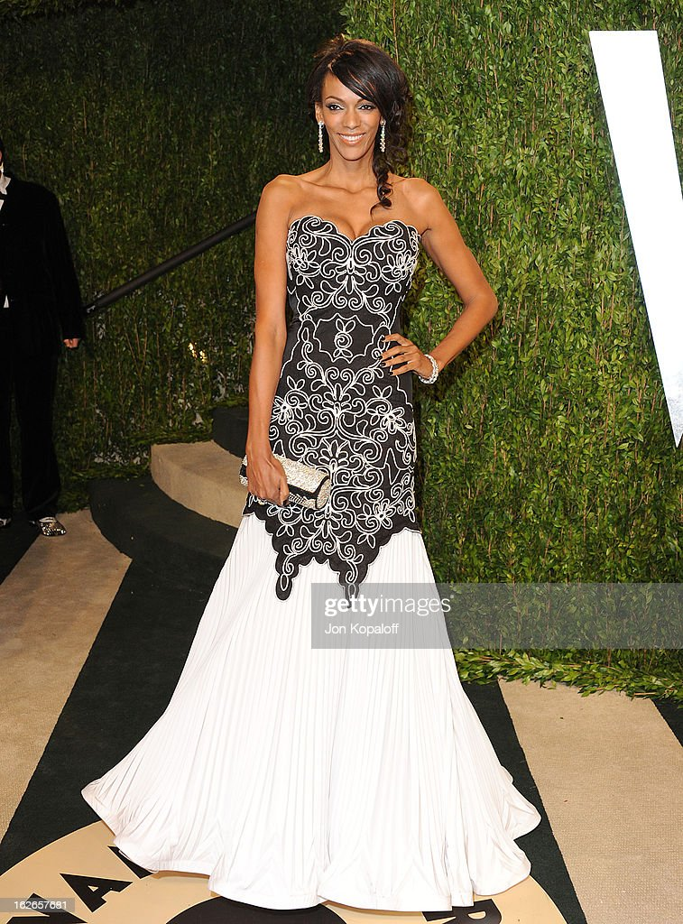 Actress Judi Shekoni attends the 2013 Vanity Fair Oscar party at Sunset Tower on February 24, 2013 in West Hollywood, California.