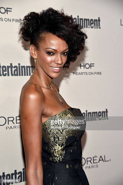 Actress Judi Shekoni attends the 2015 Entertainment Weekly PreEmmy Party at Fig Olive Melrose Place on September 18 2015 in West Hollywood California