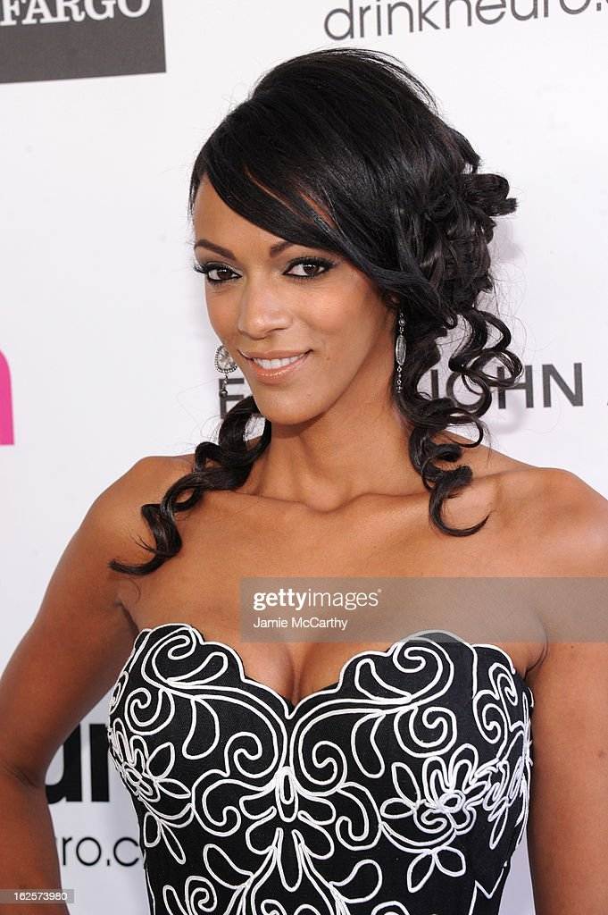 Actress Judi Shekoni attends the 21st Annual Elton John AIDS Foundation Academy Awards Viewing Party at West Hollywood Park on February 24, 2013 in West Hollywood, California.