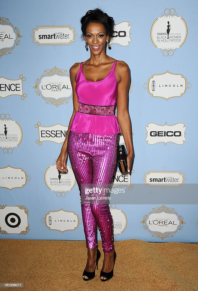 Actress Judi Shekoni attends the 6th annual ESSENCE Black Women In Hollywood awards luncheon at Beverly Hills Hotel on February 21, 2013 in Beverly Hills, California.
