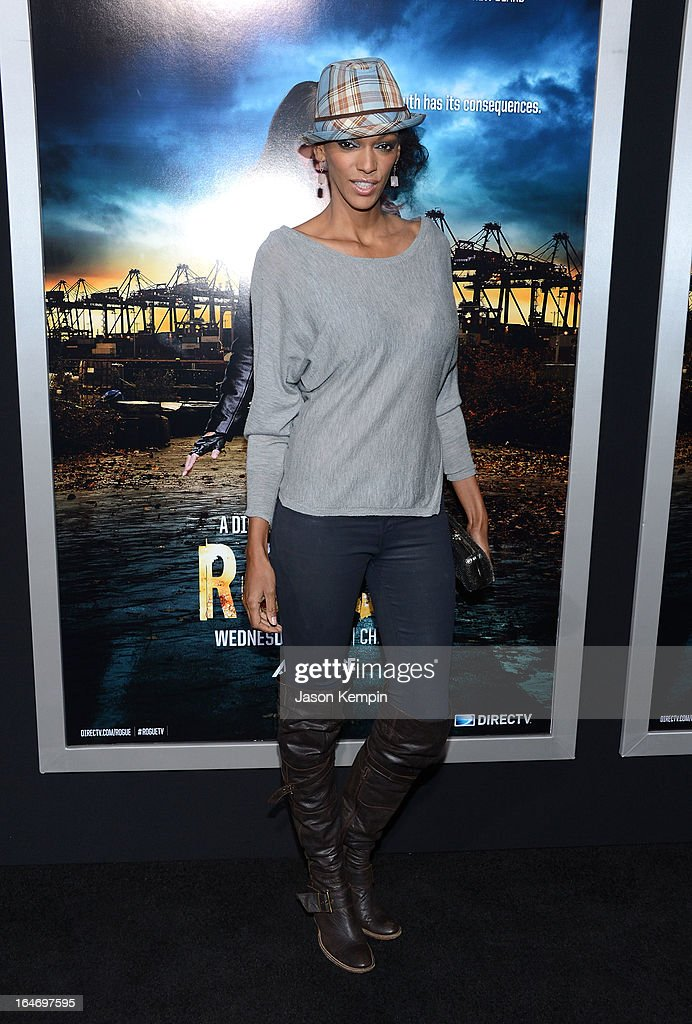 Actress Judi Shekoni attends the premiere of 'Rogue' at ArcLight Cinemas on March 26, 2013 in Hollywood, California.