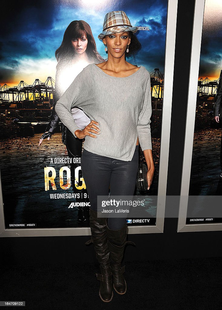 Actress Judi Shekoni attends the premiere of 'Rogue' at ArcLight Hollywood on March 26, 2013 in Hollywood, California.