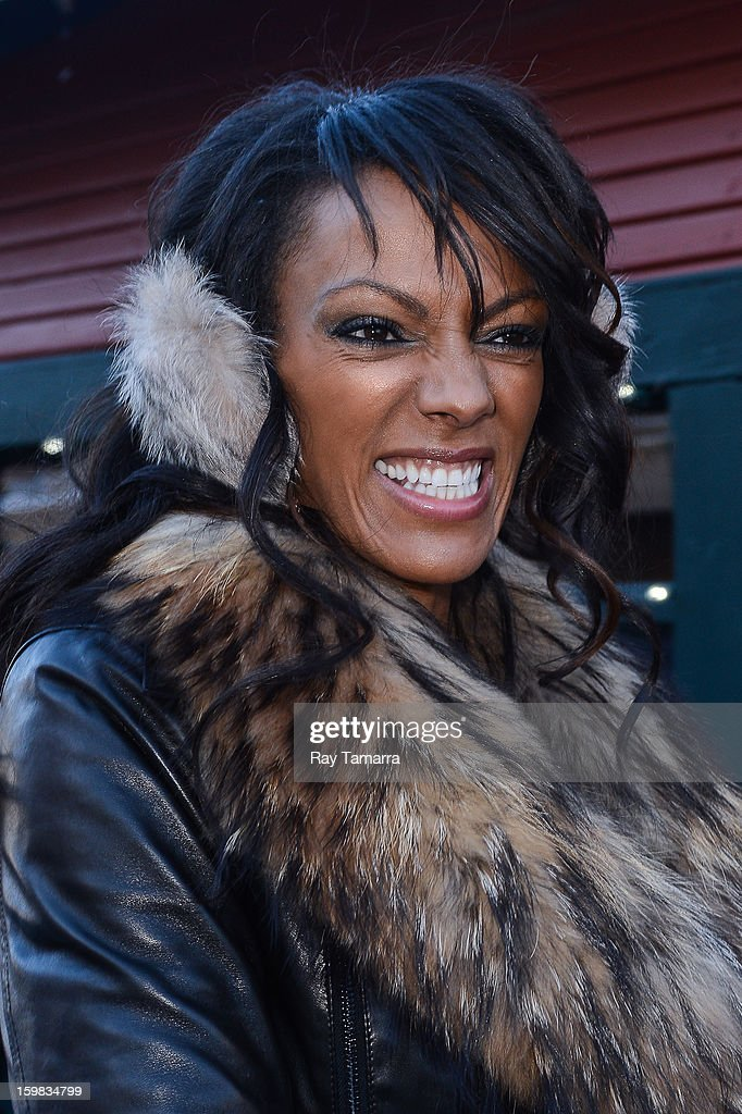 Actress <a gi-track='captionPersonalityLinkClicked' href=/galleries/search?phrase=Judi+Shekoni&family=editorial&specificpeople=208917 ng-click='$event.stopPropagation()'>Judi Shekoni</a> enters the Nikki Beach Lounge at the Sky Lodge on January 20, 2013 in Park City, Utah.