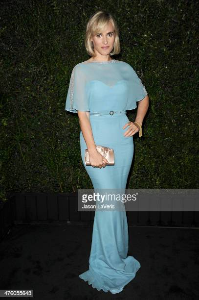 Actress Judith Godreche attends the Chanel and Charles Finch preOscar dinner at Madeo Restaurant on March 1 2014 in Los Angeles California