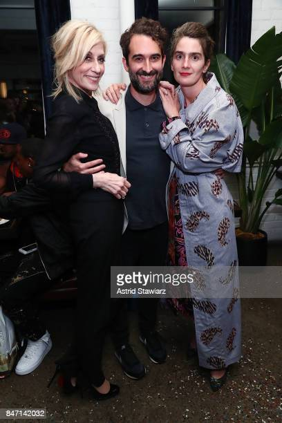 Actress Judith Light actor/director Jay Duplass and actress Gaby Hoffmann attend a screening event for members of the Screen Actors Guild in New York...