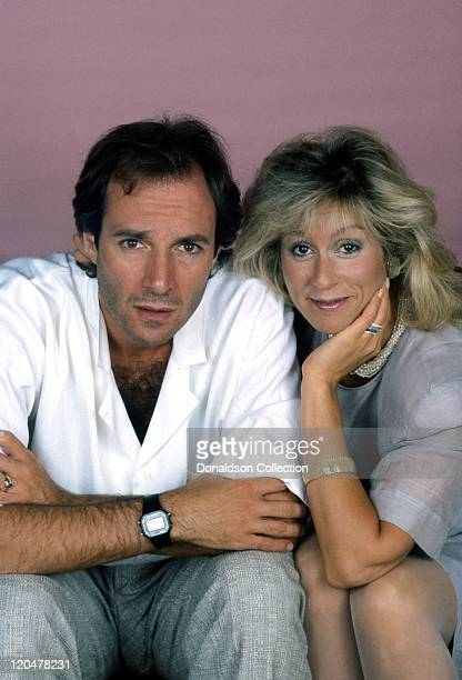 Actress Judith Light and her husband actor Robert Desiderio apose for a portrait in 1986 in Los Angeles California
