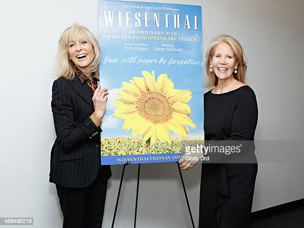 Actress Judith Light and Producer Daryl Roth attend the opening night of 'Wiesenthal A New Play' at the Acorn Theatre at Theatre Row on November 5...