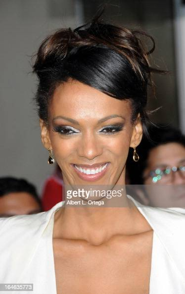 Actress Judith Shekoni arrives for The Los Angeles Premiere of 'The Last Stand' held at Grauman's Chinese Theater on January 14 2013 in Hollywood...