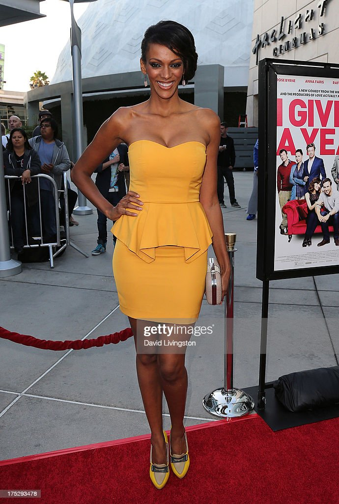 Actress Judith Shekoni attends a screening of Magnolia Pictures' 'I Give It a Year' at ArcLight Hollywood on August 1, 2013 in Hollywood, California.