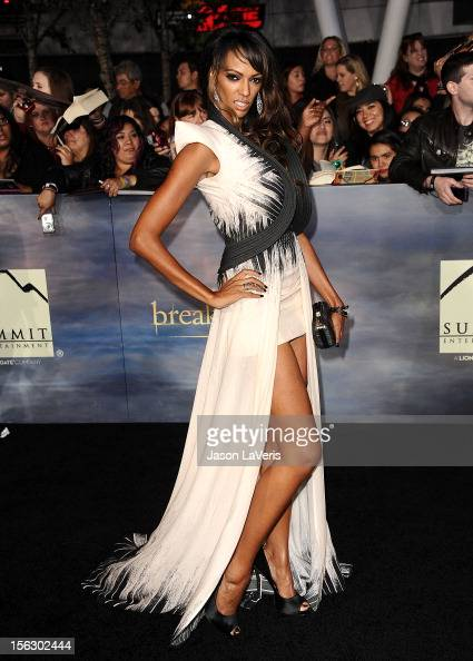 Actress Judith Shekoni attends the premiere of 'The Twilight Saga Breaking Dawn Part 2' at Nokia Theatre LA Live on November 12 2012 in Los Angeles...