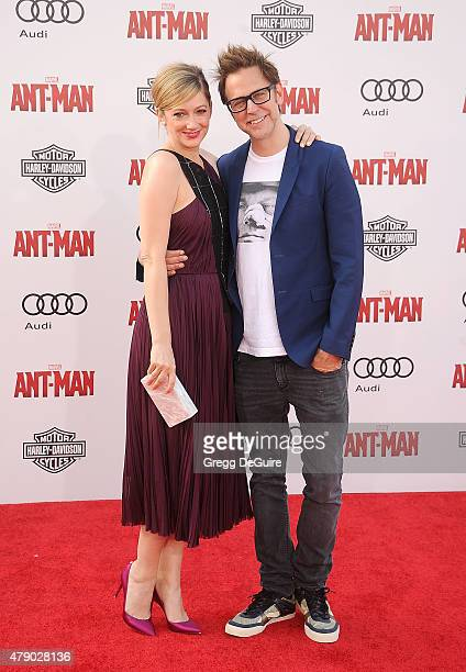 Actress Judy Greer and James Gunn arrive at the premiere of Marvel Studios 'AntMan' at Dolby Theatre on June 29 2015 in Hollywood California