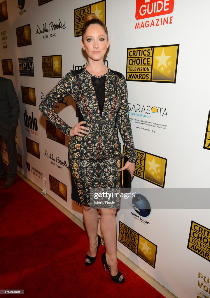 Actress <a gi-track='captionPersonalityLinkClicked' href=/galleries/search?phrase=Judy+Greer&family=editorial&specificpeople=214752 ng-click='$event.stopPropagation()'>Judy Greer</a> arrives at Broadcast Television Journalists Association's third annual Critics' Choice Television Awards at The Beverly Hilton Hotel on June 10, 2013 in Beverly Hills, California.