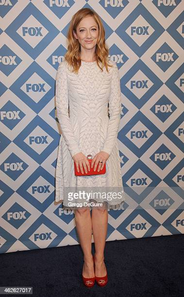 Actress Judy Greer arrives at the 2014 TCA winter press tour FOX allstar party at The Langham Huntington Hotel and Spa on January 13 2014 in Pasadena...