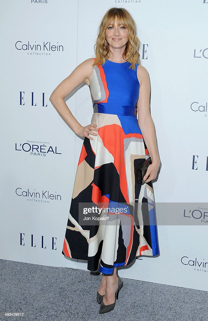 Actress <a gi-track='captionPersonalityLinkClicked' href=/galleries/search?phrase=Judy+Greer&family=editorial&specificpeople=214752 ng-click='$event.stopPropagation()'>Judy Greer</a> arrives at the 22nd Annual ELLE Women In Hollywood Awards at Four Seasons Hotel Los Angeles at Beverly Hills on October 19, 2015 in Los Angeles, California.