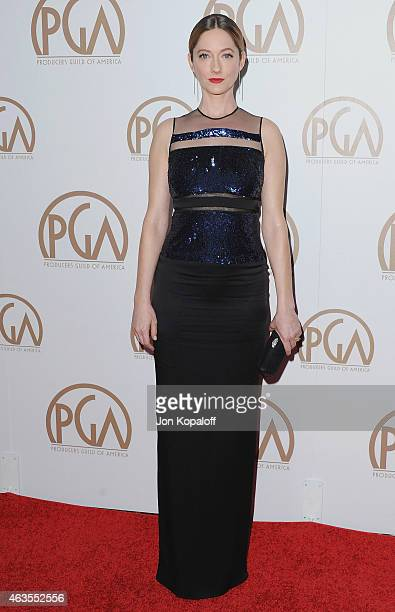 Actress Judy Greer arrives at the 26th Annual PGA Awards at the Hyatt Regency Century Plaza on January 24 2015 in Los Angeles California
