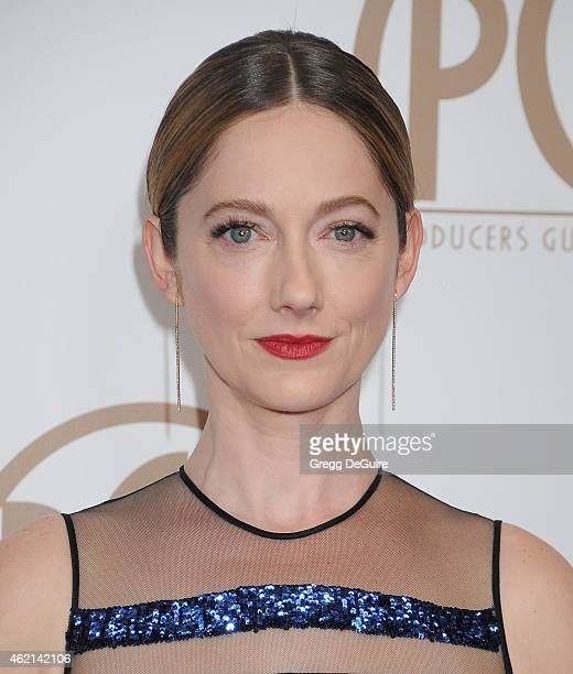 Actress Judy Greer arrives at the 26th Annual Producers Guild Of America Awards at the Hyatt Regency Century Plaza on January 24 2015 in Los Angeles...