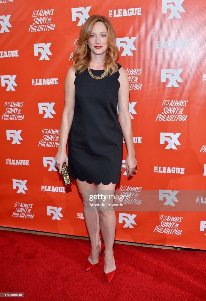 Actress <a gi-track='captionPersonalityLinkClicked' href=/galleries/search?phrase=Judy+Greer&family=editorial&specificpeople=214752 ng-click='$event.stopPropagation()'>Judy Greer</a> arrives at the FXX Network launch party featuring the season premieres of 'It's Always Sunny In Philadelphia' and 'The League' at Lure on September 3, 2013 in Hollywood, California.