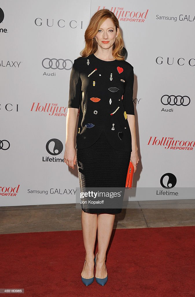 Actress <a gi-track='captionPersonalityLinkClicked' href=/galleries/search?phrase=Judy+Greer&family=editorial&specificpeople=214752 ng-click='$event.stopPropagation()'>Judy Greer</a> arrives at The Hollywood Reporter's 22nd Annual Women In Entertainment Breakfast 2013 at Beverly Hills Hotel on December 11, 2013 in Beverly Hills, California.