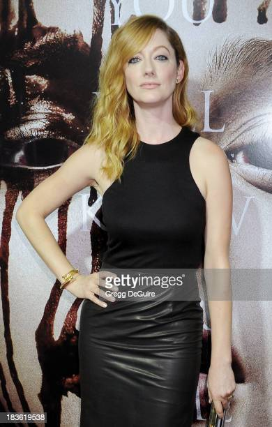 Actress Judy Greer arrives at the Los Angeles premiere of 'Carrie' at ArcLight Hollywood on October 7 2013 in Hollywood California