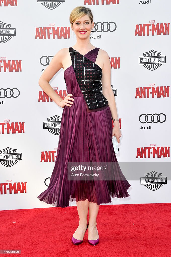 Actress <a gi-track='captionPersonalityLinkClicked' href=/galleries/search?phrase=Judy+Greer&family=editorial&specificpeople=214752 ng-click='$event.stopPropagation()'>Judy Greer</a> arrives at the Los Angeles Premiere of Marvel Studios 'Ant-Man' at Dolby Theatre on June 29, 2015 in Hollywood, California.