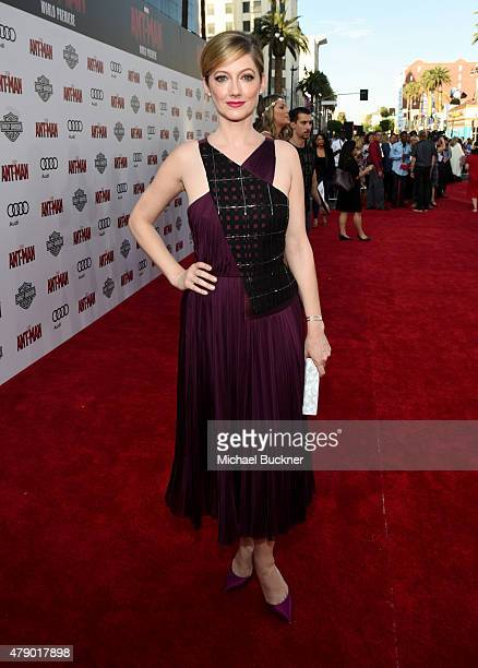 Actress Judy Greer attends Audi celebrates the world premiere of 'AntMan' at The Dolby Theatre on June 29 2015 in Los Angeles California