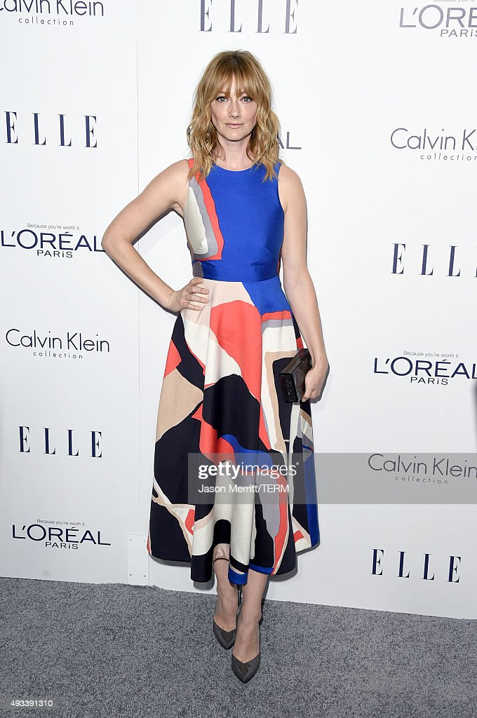Actress <a gi-track='captionPersonalityLinkClicked' href=/galleries/search?phrase=Judy+Greer&family=editorial&specificpeople=214752 ng-click='$event.stopPropagation()'>Judy Greer</a> attends the 22nd Annual ELLE Women in Hollywood Awards at Four Seasons Hotel Los Angeles at Beverly Hills on October 19, 2015 in Los Angeles, California.