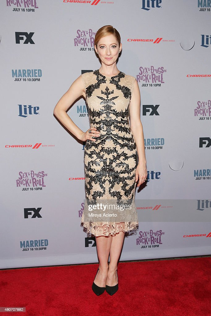 Actress <a gi-track='captionPersonalityLinkClicked' href=/galleries/search?phrase=Judy+Greer&family=editorial&specificpeople=214752 ng-click='$event.stopPropagation()'>Judy Greer</a> attends the 'Married' New York series premiere at SVA Theater on July 14, 2015 in New York City.
