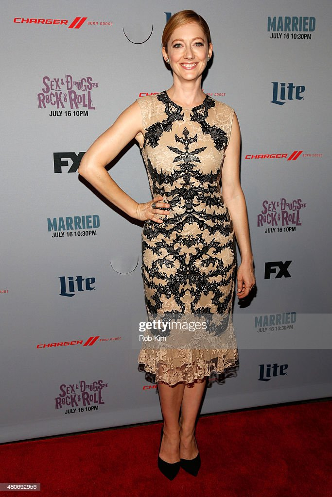 Actress <a gi-track='captionPersonalityLinkClicked' href=/galleries/search?phrase=Judy+Greer&family=editorial&specificpeople=214752 ng-click='$event.stopPropagation()'>Judy Greer</a> attends the New York Series Premiere of 'Married' at the SVA Theater on July 14, 2015 in New York City.