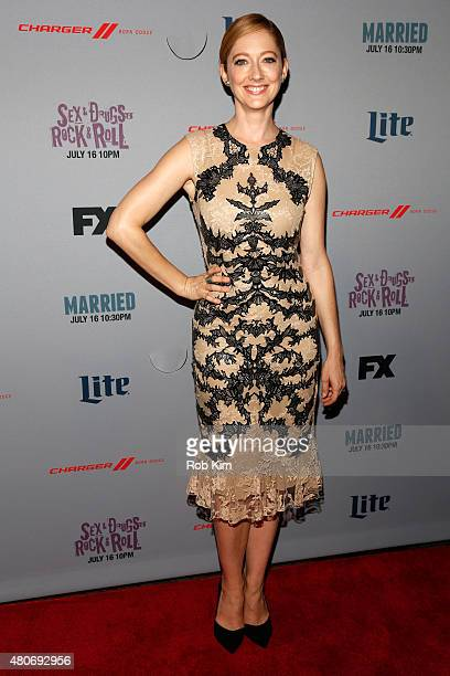 Actress Judy Greer attends the New York Series Premiere of 'Married' at the SVA Theater on July 14 2015 in New York City