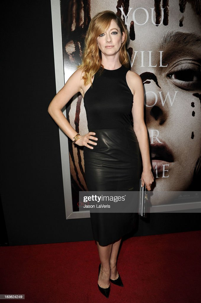 Actress <a gi-track='captionPersonalityLinkClicked' href=/galleries/search?phrase=Judy+Greer&family=editorial&specificpeople=214752 ng-click='$event.stopPropagation()'>Judy Greer</a> attends the premiere of 'Carrie' at ArcLight Hollywood on October 7, 2013 in Hollywood, California.