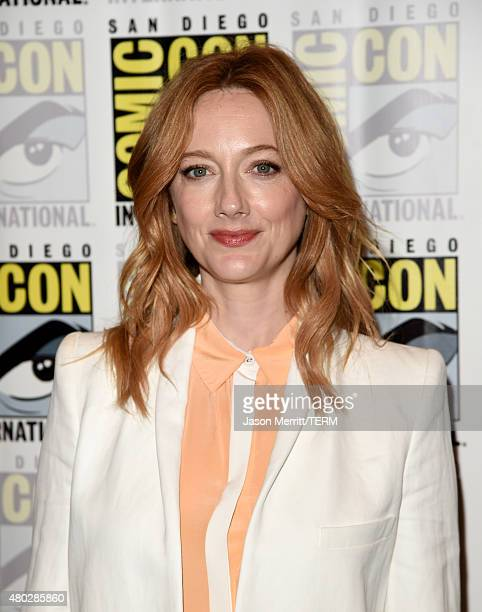 Actress Judy Greer attends the 'Teen Wolf' press room during ComicCon International 2015 at the Hilton Bayfront on July 10 2015 in San Diego...