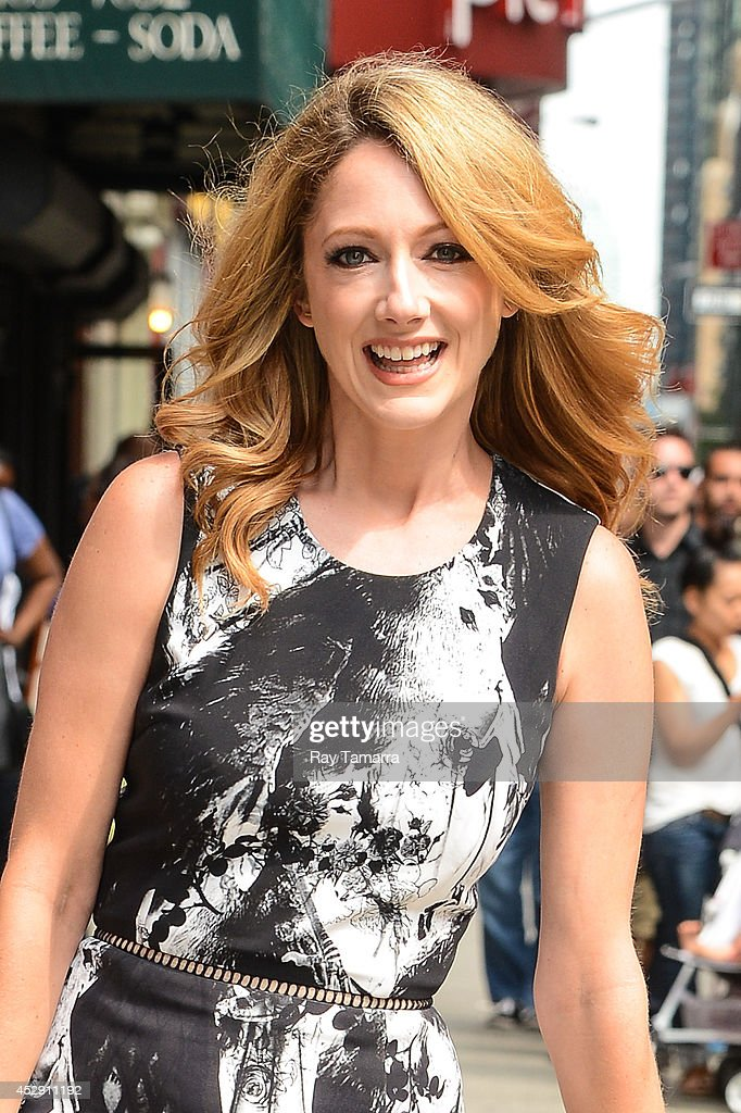 Actress Judy Greer enters the 'Late Show With David Letterman' taping at the Ed Sullivan Theater on July 29, 2014 in New York City.