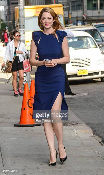 Actress Judy Greer enters the 'Late Show With David Letterman' taping at the Ed Sullivan Theater on May 20 2014 in New York City