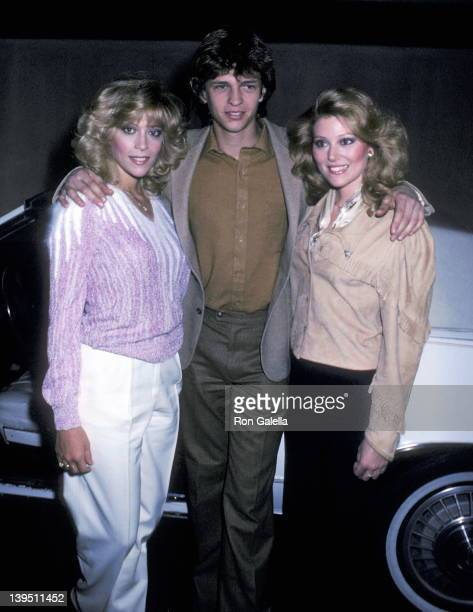 Actress Judy Landers actor Jimmy McNichol and actress Audrey Landers attend the 'Entertainment Tonight' 100th Episode Celebration on January 10 1982...