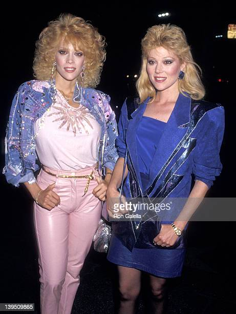 Actress Judy Landers and actress Audrey Landers attend David Copperfield's Magic Show on May 15 1987 at the Pantages Theatre in Hollywood California