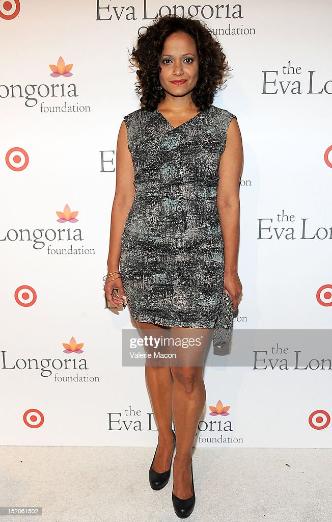 Actress Judy Reyes arrives at The Eva Longoria Foundation's Pre-ALMA Awards Dinner Presented By Target on September 15, 2012 in Los Angeles, California.