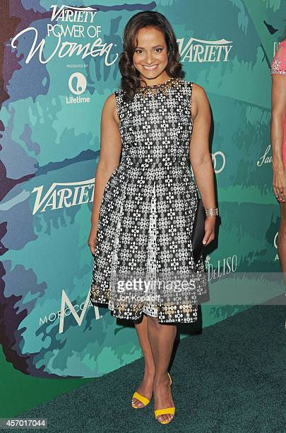 Actress Judy Reyes arrives at Variety's 2014 Power Of Women Event In LA Presented By Lifetime at the Beverly Wilshire Four Seasons Hotel on October...