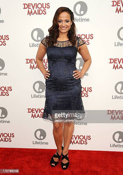 Actress Judy Reyes attends the premiere of 'Devious Maids' at BelAir Bay Club on June 17 2013 in Beverly Hills California
