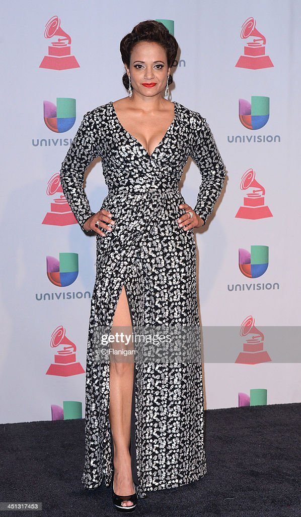 Actress Judy Reyes poses backstage during The 14th Annual Latin GRAMMY Awards at the Mandalay Bay Events Center on November 21, 2013 in Las Vegas, Nevada.