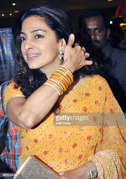 Actress Juhi Chawla at the B D Hair and Makeup Awards at the JW Marriott hotel in Mumbai on Tuesday September 8 2009